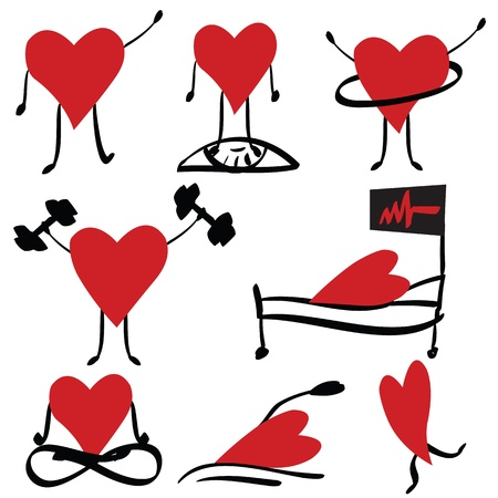 Hearts icons Stock Vector - 12827322