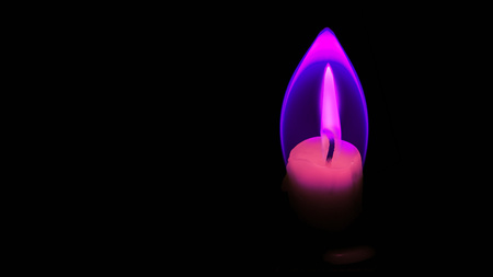 aura: Candle flame with aura