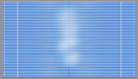 jalousie: Blue window blinds Stock Photo