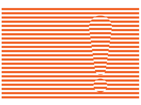 luxacion: exclamation mark on dislocations red stripes