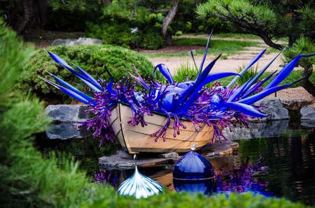 chihuly: Dale Chihuly, Float Boat (Blue), 2014 Denver Botanic Gardens, (Landscape)