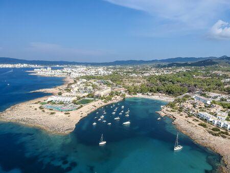 Ibiza summer. Port des Torrent beach, Ibiza island, Spain.