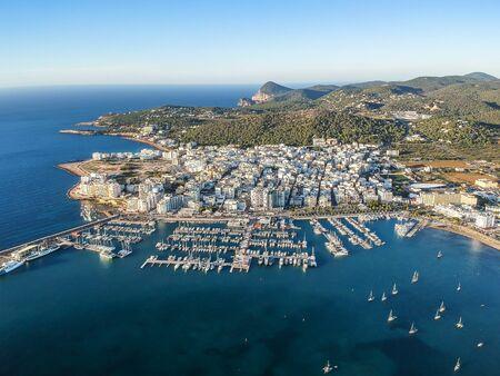 San Antonio de Portmany, Ibiza island, Spain. 免版税图像