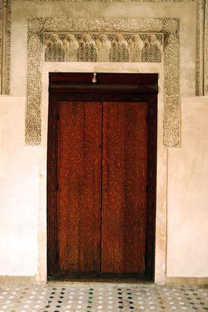 moorish: Bou Inania Madrassa in Fez, Morocco Stock Photo