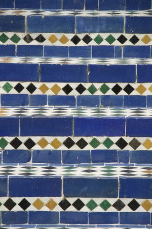 bab: Moroccan blue mosaic stairs