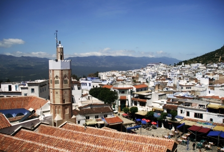 View on Chefchaouen, Morocco photo