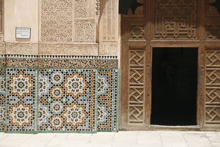 Ali Ben Youssef Madrassa in Marrakech, Morocco photo