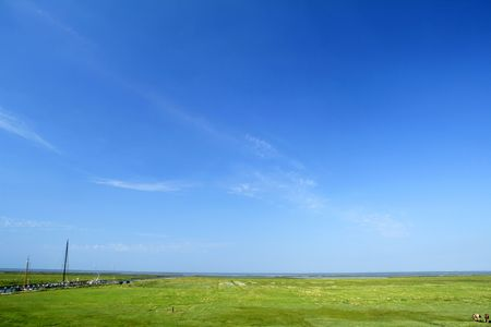 a dutch summer landscape background Stock Photo - 5326084
