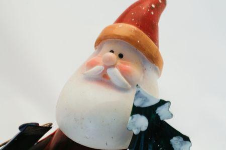 Christmas figurine isolated on white background photo
