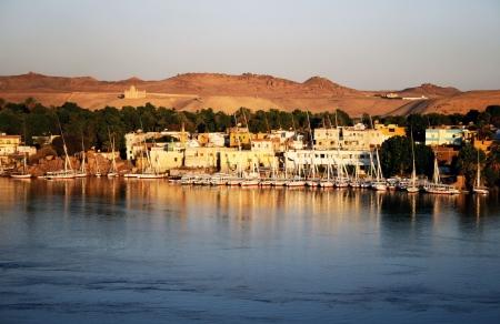 white nile: Vista a Asu�n y el Nilo, en Egipto