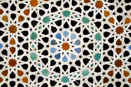 arabic ceramic tiles photo
