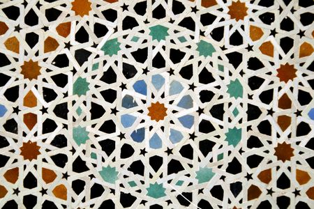 islamic pattern: arabic ceramic tiles