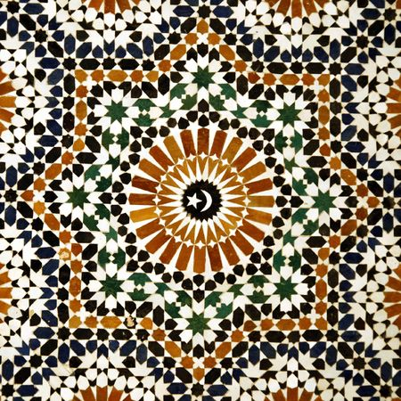 mosaic pattern: arabic ceramic tiles