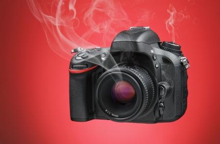 핫 디지털 카메라 스톡 콘텐츠