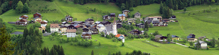 austrian village: view on a mountain village in the austrian alps (lesachtal)