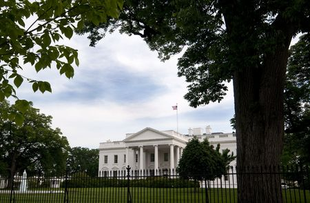 The North Entrance to the White House in Spring. Stock Photo - 7990259