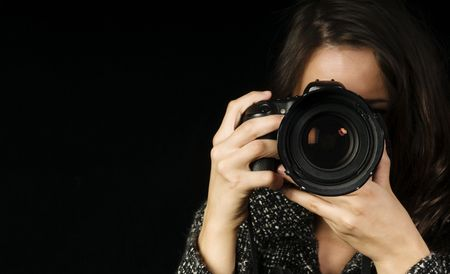 Professional Female Photographer wSLR