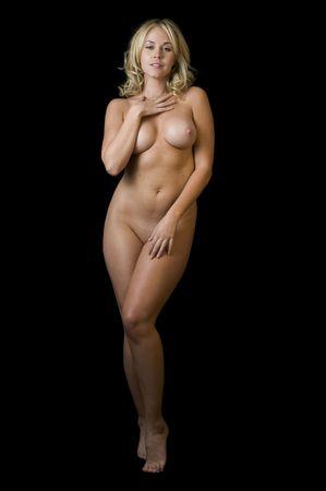 Seductive Blonde Stripper Nude
