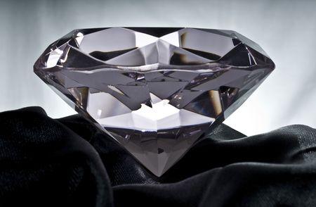 Brilliant Diamond on Black Satin