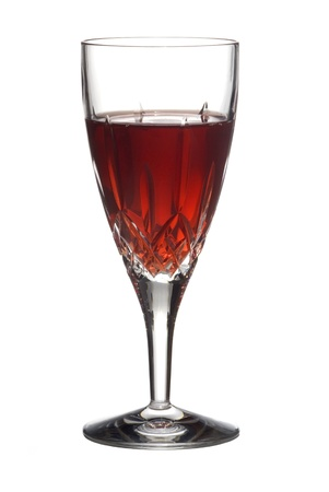 Red Wine in Crystal Flute