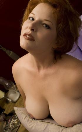 Topless Nude Redhead