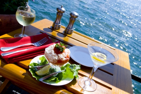Lunch on the Water Banco de Imagens - 9244119