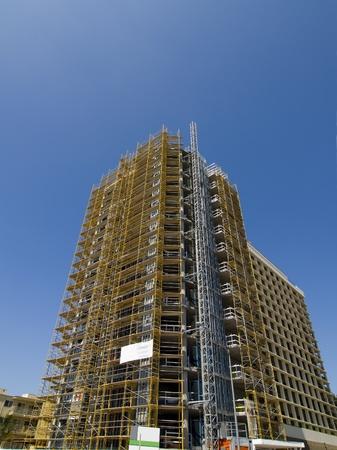 High-Rise under construction 免版税图像