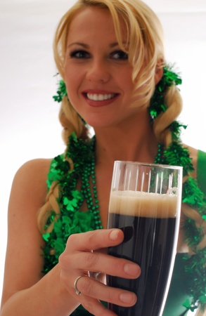 Beautiful Irish Lass Serving a Pint of Ale  Stock Photo - 9315026