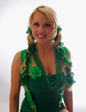 Beautiful Irish Lass Ready for St. Paddys Day photo