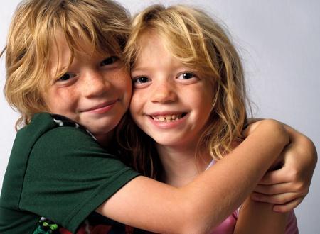Hugging Twins photo