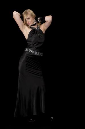 Black Cocktail Gown Striptease Series-Reming Dress