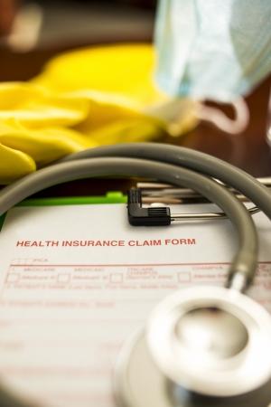 reimbursement: Health Insurance Claim Form -- Shallow Depth of Field