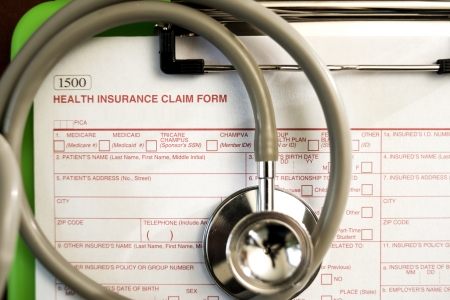 Health Insurance Claim Form -- Shallow Depth of Field photo