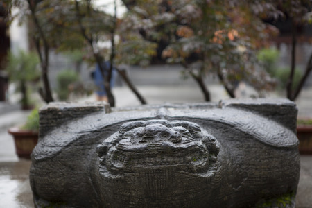 stillness: Chinese ancient architecture: the base of the monument Editorial
