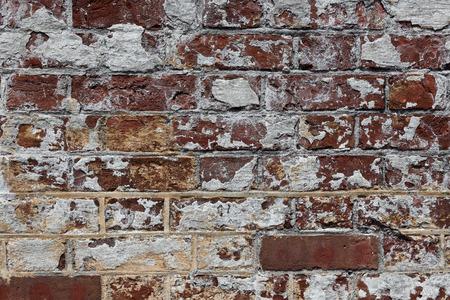 brick and mortar: Civil War era brick wall Stock Photo