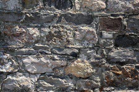 A stone wall near the Savannah riverfront.