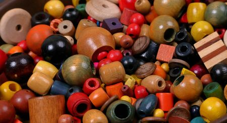 Beads, many colors, many shapes and a variety of sizes Stok Fotoğraf