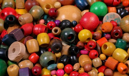 Beads, many colors, many shapes and a variety of sizes Banco de Imagens