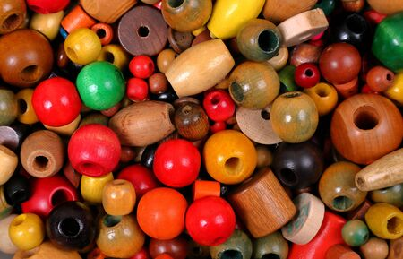 Beads, many colors, many shapes and a variety of sizes Stock Photo