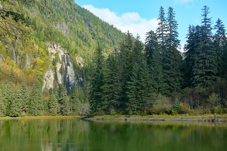 Scenery at Exchmsiks River Provincial Park, between Terrace and Prince Rupert British Columbia