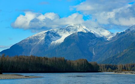 Scenery along the Skeena River between Terrace and Prince Rupert BC