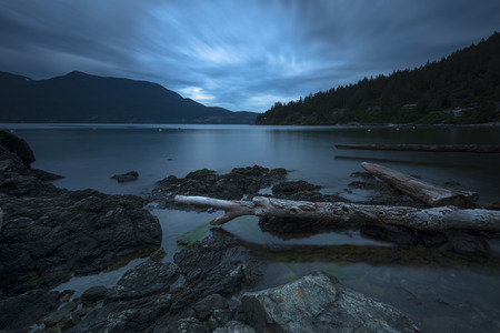 Bowen Island Storm Clouds Pacific North West LandscapeBowen Island Storm Clouds Pacific North West Landscape Stockfoto