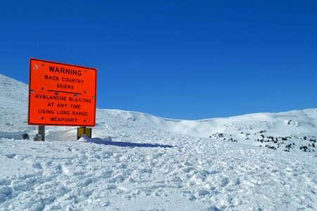 loveland pass: Back country skiing Stock Photo