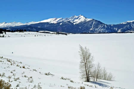 lake dillon: Lake Dillon in Winter Stock Photo