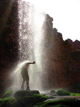man waterfalls: Harsh Waterfall