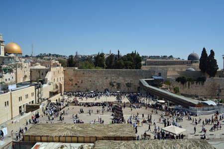 Wailing Wall in Jerusalem, Israel Imagens - 51903025