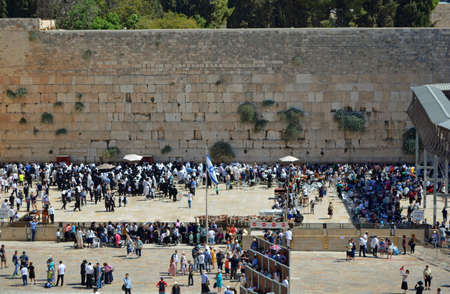 tabernacles: Wailing Wall in Jerusalem, Israel