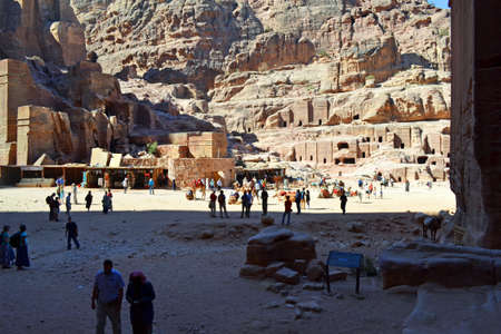 nabatean: Tourists of Petra