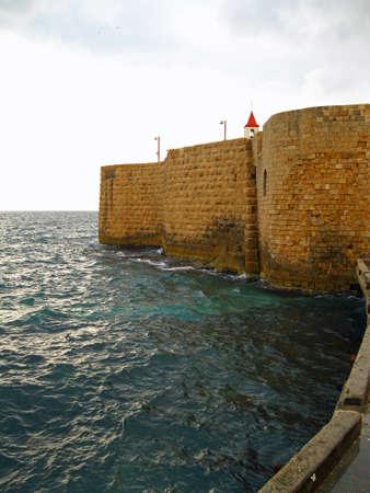 akko: City walls of Akko, Israel Editorial