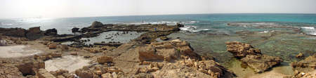 remains: City remains of Ancient Caesarea on the Mediterranean Sea.